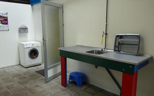 AED en wasmachine